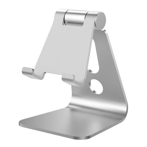 Universal Aluminium Adjustable Desktop Stand for Phone / Tablet - Silver